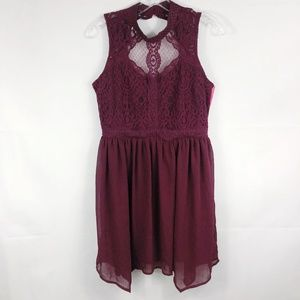 ! Xhilaration | NWT Craberry Lace Fit Flare Dress